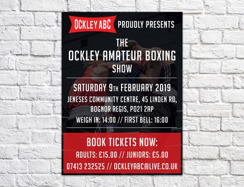 Ockley ABC boxing event poster